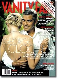 Clooney Lights Up Vanity Fair