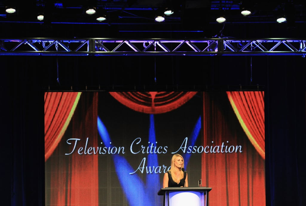 Claire Danes accepted on honor at the Television Critics Association Awards in LA.