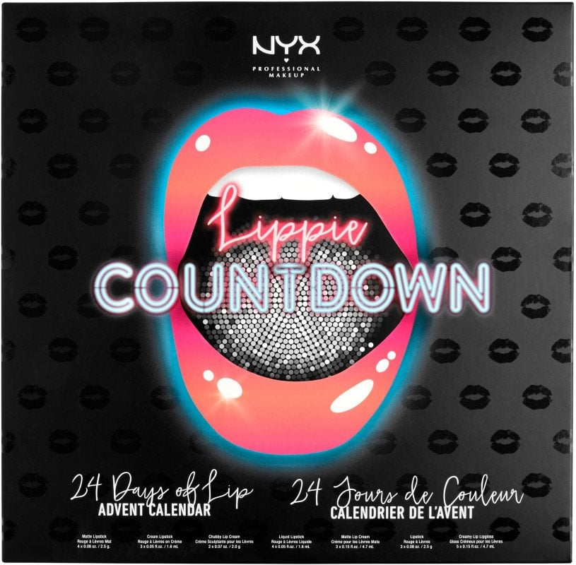 The Exterior Packaging of NYX's Lippie Countdown Advent Calendar