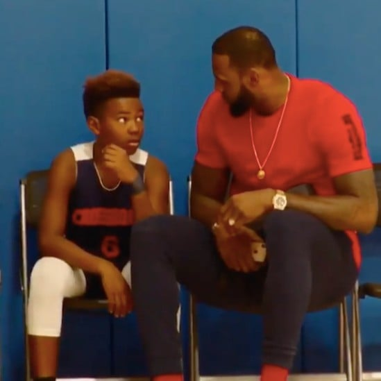 Video of LeBron James Giving a Pep Talk to a Player