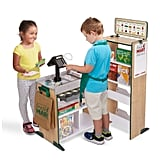 Melissa & Doug Freestanding Wooden Fresh Mart Grocery Store Role Play Toy