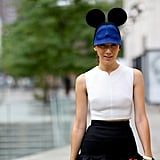 What's Fashion Week without a style star paying homage to everyone's favourite mouse?