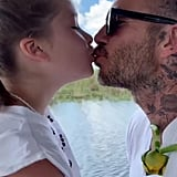 Harper Shared a Sweet Smooch With Her Dad on a Boat