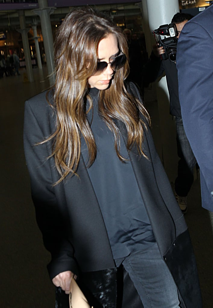 Victoria Beckham boarded the Eurostar to head to Paris.