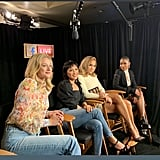 Jennifer Lopez's David Koma Dress and Mesh Heels