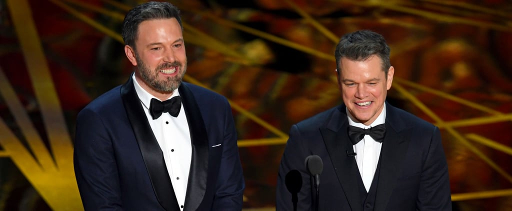 "Ben Affleck ""and Guest"" Matt Damon Bring the Laughs on Stage at the Oscars"