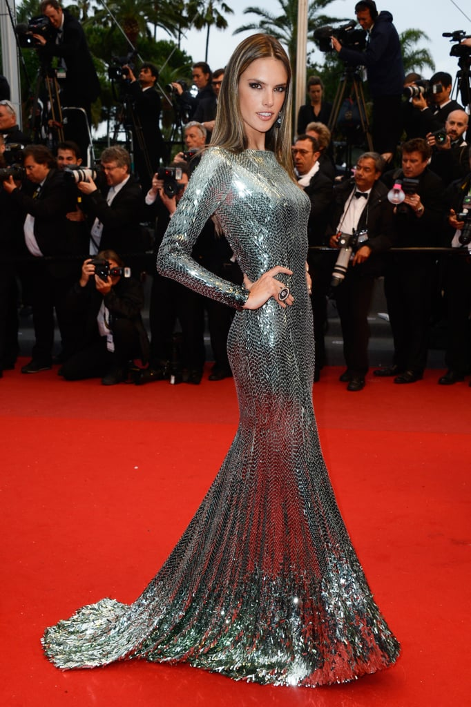 Alessandra Ambrosio in Roberto Cavalli at the Cannes premiere of All Is Lost.