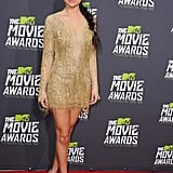 Selena Gomez struck gold in this Julien Macdonald fringed mini dress at the 2013 MTV Movie Awards.