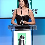 Shailene Woodley gave thanks for her Hollywood Spotlight award.