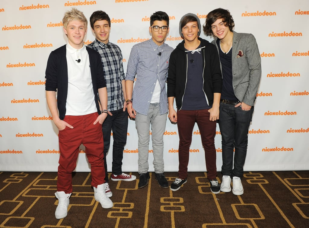 One Direction at the Nickelodeon Upfronts in New York in 2012
