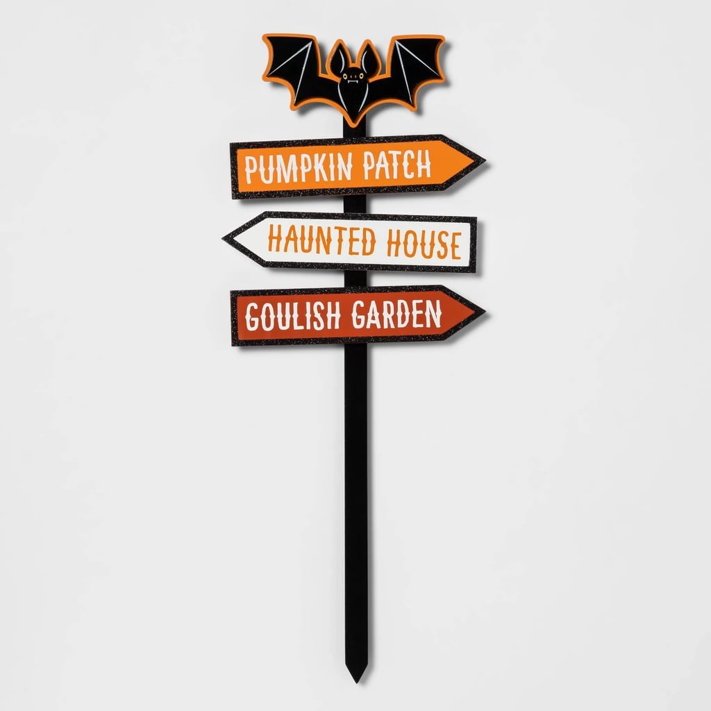 Bat With Directions Halloween Yard Stake
