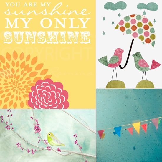 Spring-Themed Etsy Prints For Your Little One's Space