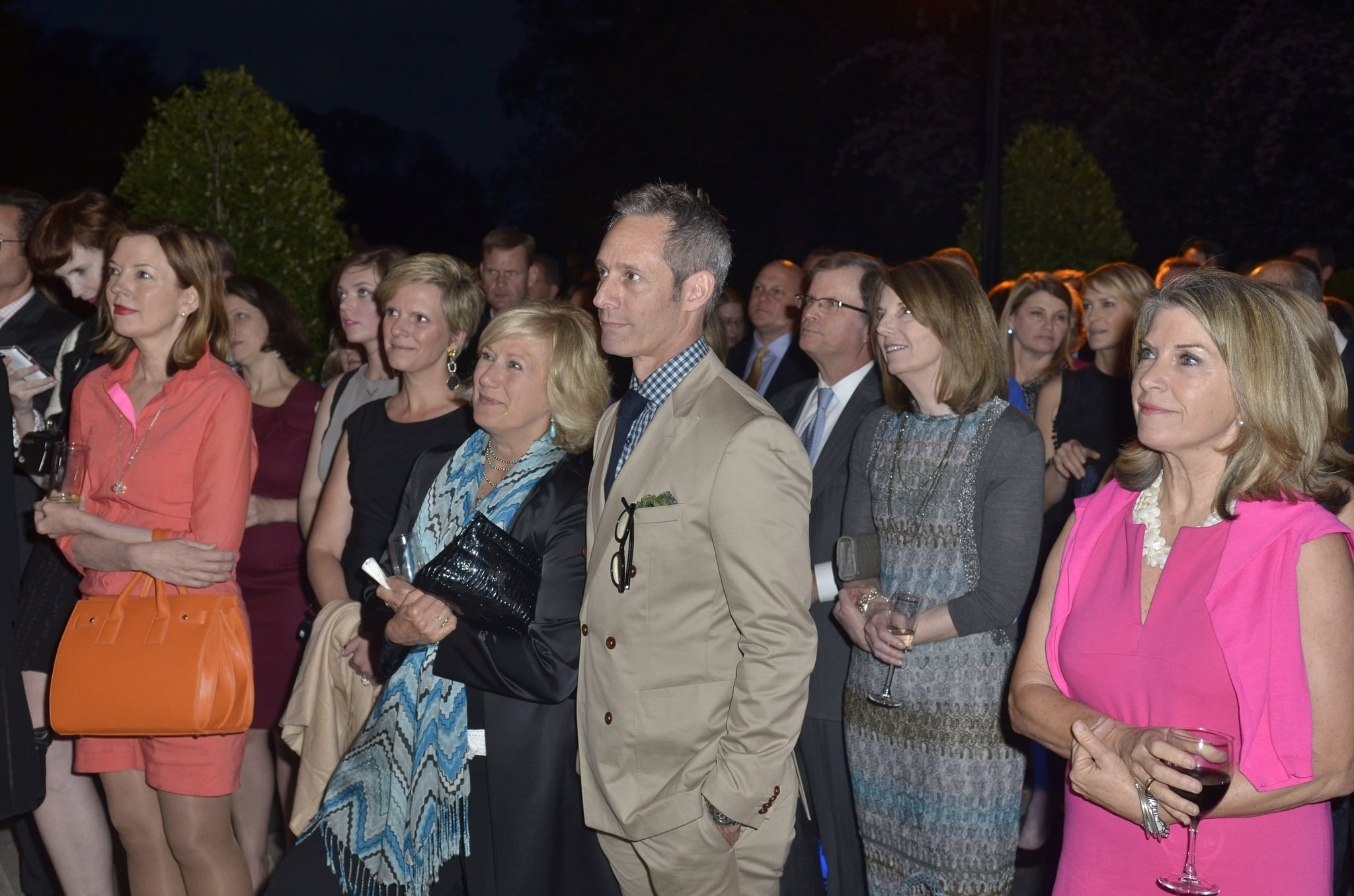 Husband and wife and House of Cards costars Michael Gill and Jayne Atkinson stayed close at the Capitol File event on Friday.