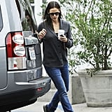 Jennifer Garner got into her car after picking up coffee in LA.