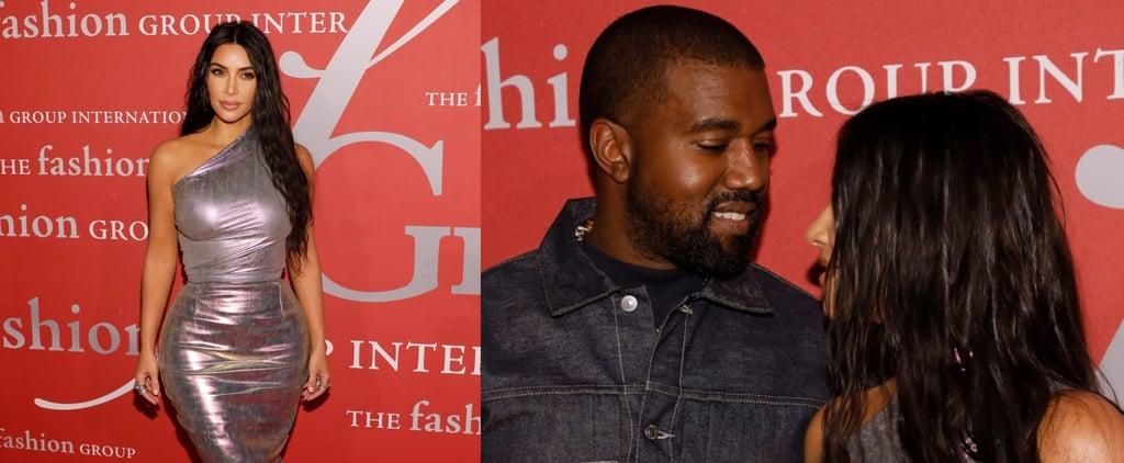 Kim Kardashian's Rick Owens Iridescent Dress With Kanye West