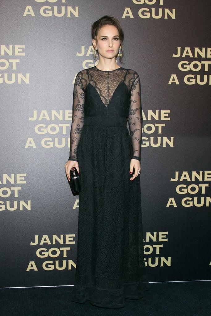 Natalie Portman in Dior Black Lace Gown | January 2016 | POPSUGAR ...