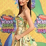 Victoria Justice made a glamorous arrival.
