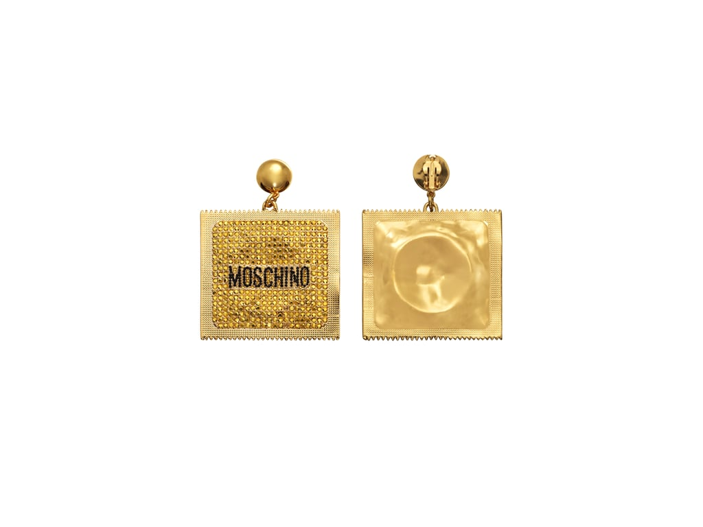 c19dfbbcc5f Gold-Plated Clip Earrings | H&M x Moschino Collection | POPSUGAR ...