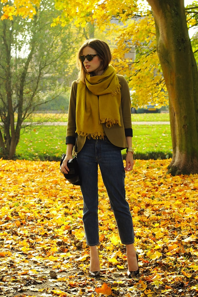 Classic layers and traditional autumnal hues make the chicest combination in this totally on-point bit of Fall style. Source: Lookbook.nu