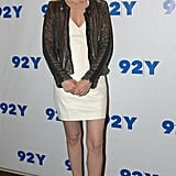 January Jones wore a simple white dress.