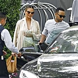 Chrissy Teigen Sports a Gorgeous Pregnancy Glow During Her Lunch Date With John Legend
