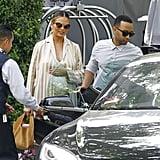 Chrissy Teigen and John Legend in LA March 2016