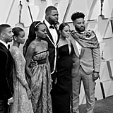 Pictured: Michael B. Jordan, Letitia Wright, Danai Gurira, Winston Duke, Lupita Nyong'o, and Ryan Coogler