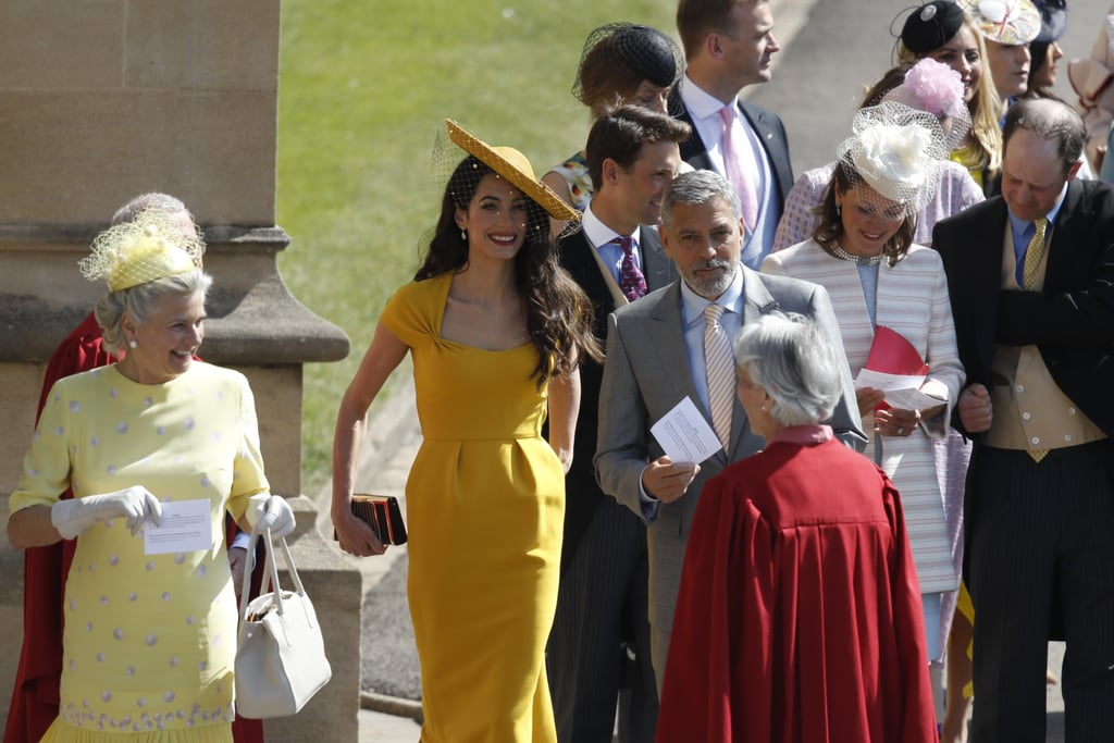 George and Amal Clooney at Royal Wedding 2018 Pictures