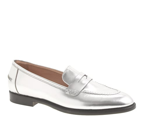 You won't regret preordering these J.Crew Collection Mirror Metallic Penny Loafers ($298) now when you wear them all Fall.