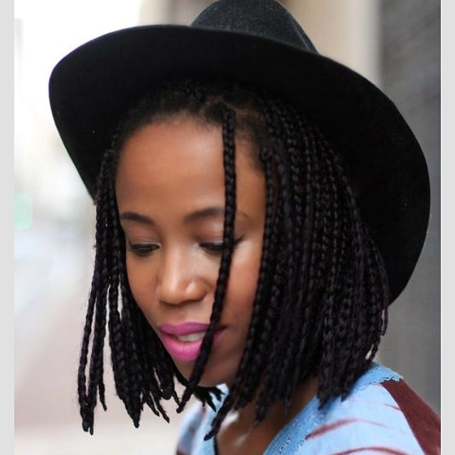 Stupendous Black Braided Hairstyles With Extensions Popsugar Beauty Hairstyles For Men Maxibearus