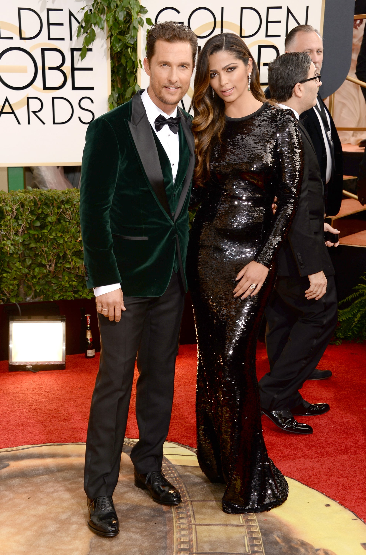 Matthew McConaughey at the Golden Globe Awards