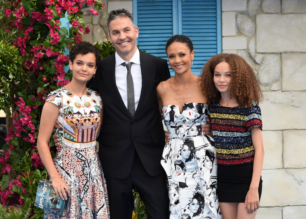 "Thandie Newton and director Oliver ""Ol"" Parker have been married since 1998 and are the proud parents of three gorgeous kids: daughters Ripley, 18, and Nico, 13, and son Booker, who was born in 2014. The English actress clearly blessed her children with her enviable genes, and daughter Nico is even following in her mom's acting footsteps by making her big-screen debut in Disney's upcoming live-action Dumbo adaptation.  We most recently saw the outspoken Westworld star and her husband with their two oldest children at the UK premiere of Ol's film Mamma Mia! Here We Go Again, but it was far from the first time Thandie has been snapped with her kids on the red carpet. She also gave her girls a sweet shoutout during her Emmys acceptance speech! Keep reading to see their family photos.      Related:                                                                                                           Thandie Newton Relies on Vegetarianism and This Style of Yoga to Stay in Shape"