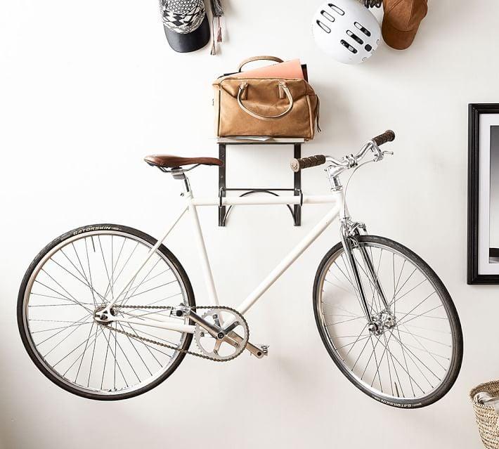 wall mounted bike rack 35 originally 69 pottery barn apartment collection popsugar. Black Bedroom Furniture Sets. Home Design Ideas