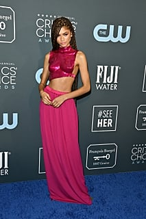 Zendaya Looks Like a Pink Warrior Princess Wearing Tom Ford at the Critics' Choice Awards