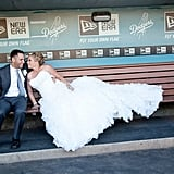Dugout Wedding Pose