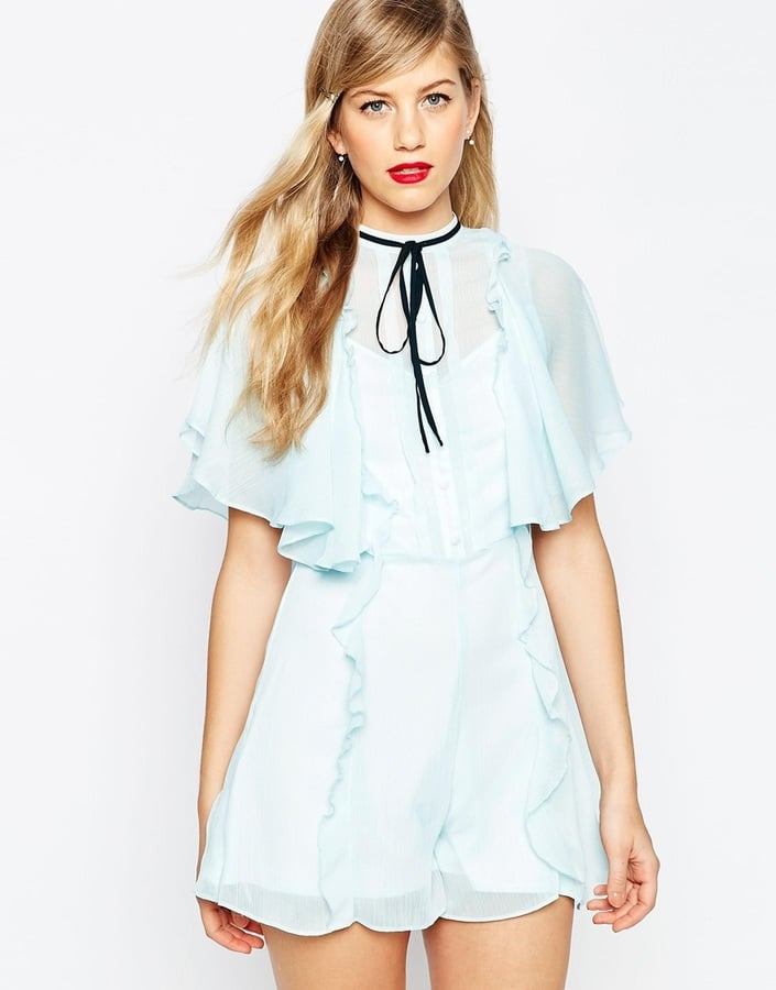 4cb1ee8359 Asos Occasion Ruffle Wrap Playsuit (£45)