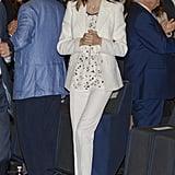 Queen Letizia's All-White Look September 2016