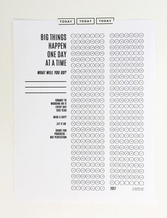 Printable Daily Goal Tracker