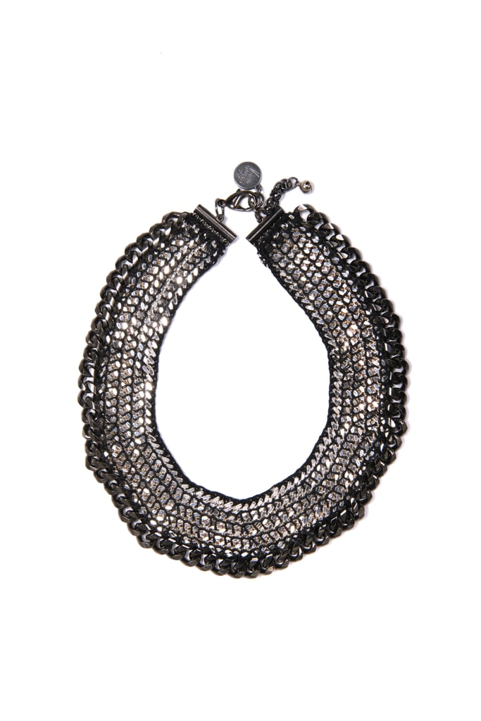 """Venessa Arizaga Harlem Shuffle Necklace ($350) """"A statement necklace is an asset and necessity in a woman's wardrobe. It transforms ordinary jeans and a white tee into a chic outfit, perfect for day or night. This piece specifically is so versatile. I love it!"""""""
