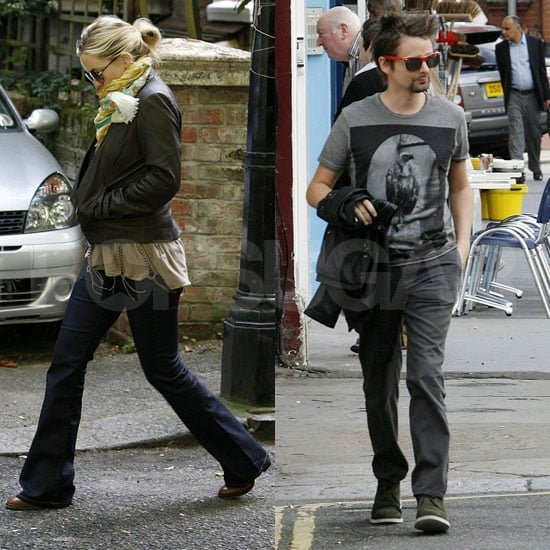 Kate Hudson and Matt Bellamy Rise For an Early London Meal