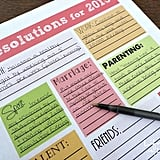 Categorized Resolutions Printable