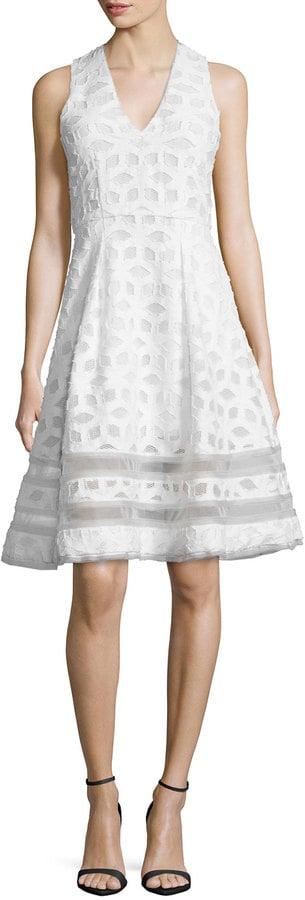Jonathan Simkhai Sleeveless Twill Tea Dress, White ($750)