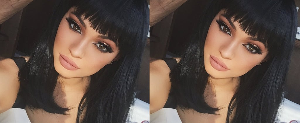 Kylie Jenner Channels Cleopatra With Sexy Bangs Selfie