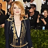 Emma Stone and Andrew Garfield at the 2018 Met Gala