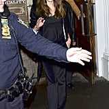 Angelina Jolie went to dinner at Quality Meats in NYC.
