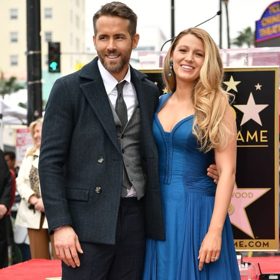 Blake Lively Blue Dress at Hollywood Walk of Fame 2016