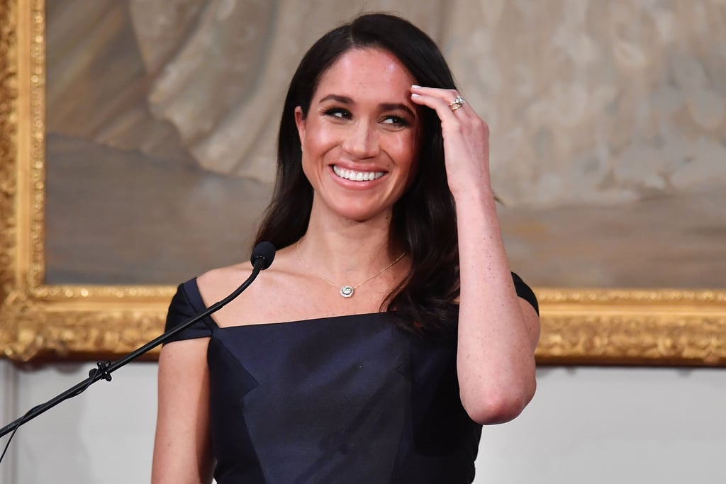 Meghan Markle Navy Gabriela Hearst Dress in New Zealand