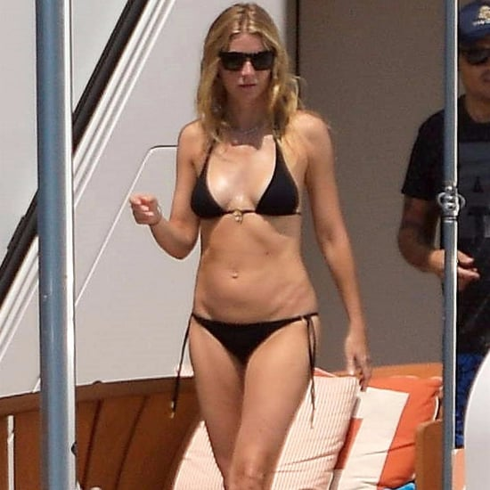 Gwyneth Paltrow Black Triangle Bikini