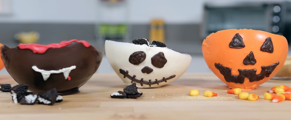 Any Halloween Dessert Is Better When Served in an Edible Chocolate Bowl!