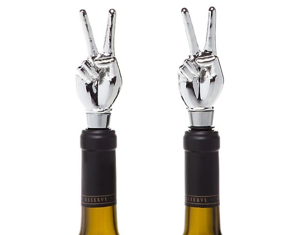 Peace Sign Bottle Stoppers